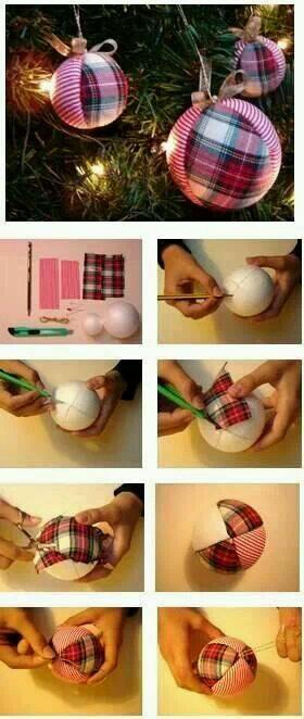 DIY como hacer esferas de navidad bonitas y económicas