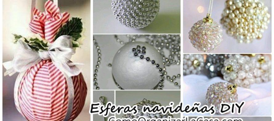DIY como hacer esferas de navidad bonitas y economicas