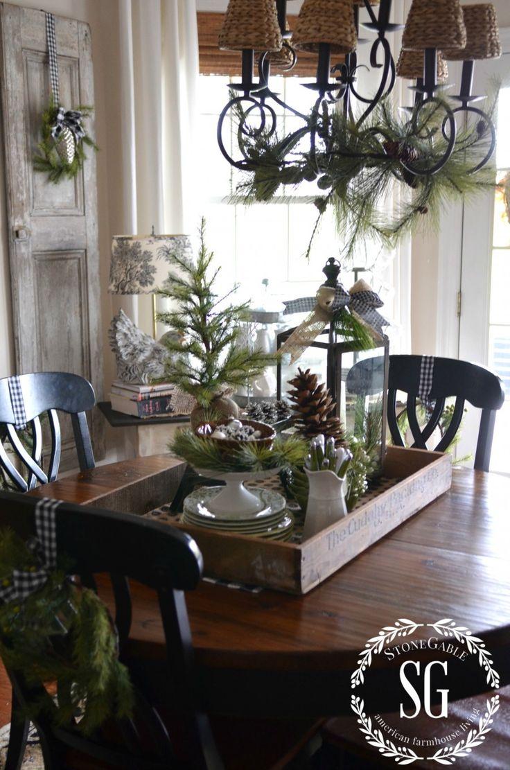 Decoración de navidad estilo rustico para mesa