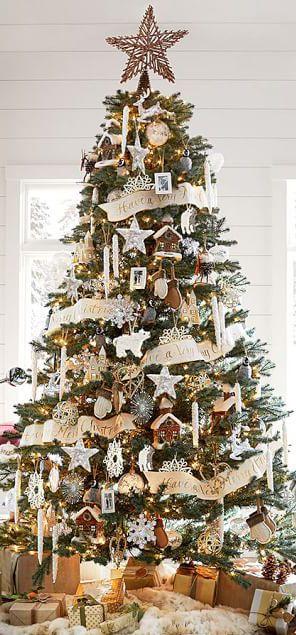Decoración de navidad estilo rustico para arboles navideños