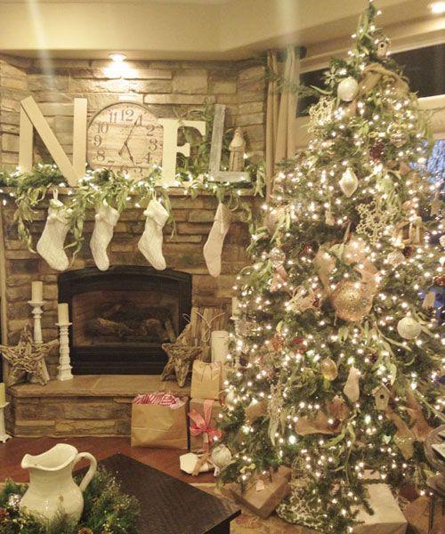 Decoraci n de navidad estilo rustico tendencias para - Decoracion para arboles navidenos ...