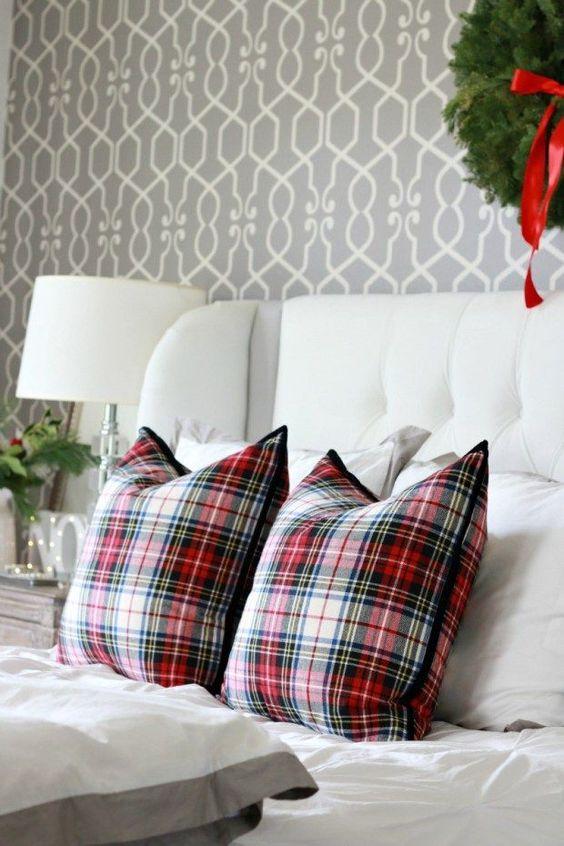 Decoración navideña de habitaciones principales
