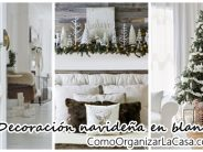 Decoración navideña 2016 en color blanco