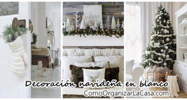 Decoración navideña 2016 en color blanco