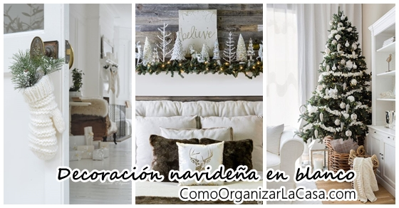 Decoración navideña 2018 en color blanco