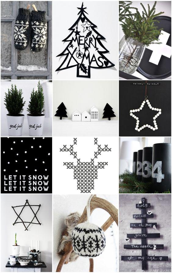 Decoracion navidena en blanco y negro 9 decoracion de - Decoracion navidena de casas ...