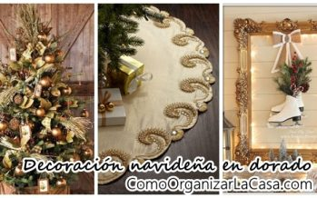 Decoración navideña en color oro – dorado