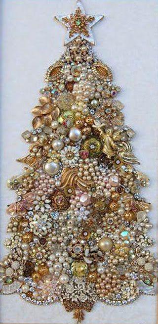 Decoración navideña en color oro - dorado