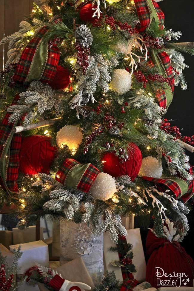 Arboles de navidad estilo campestre