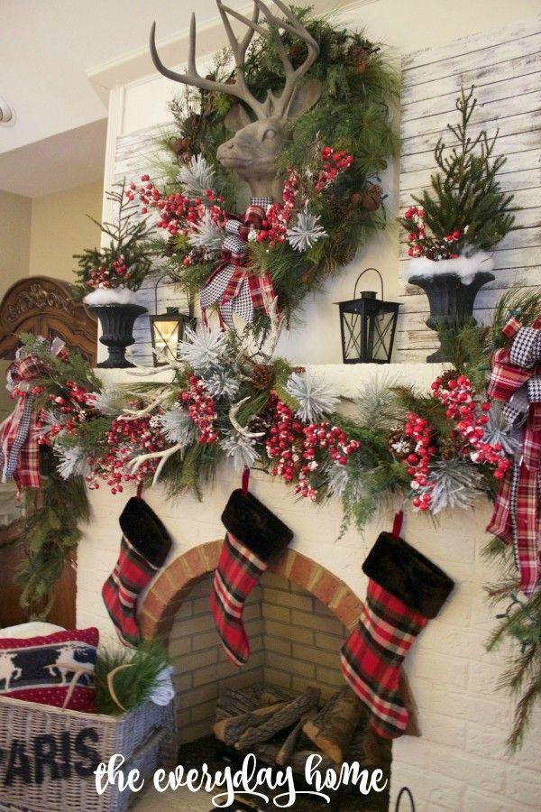 Adornos navideños estilo campestre