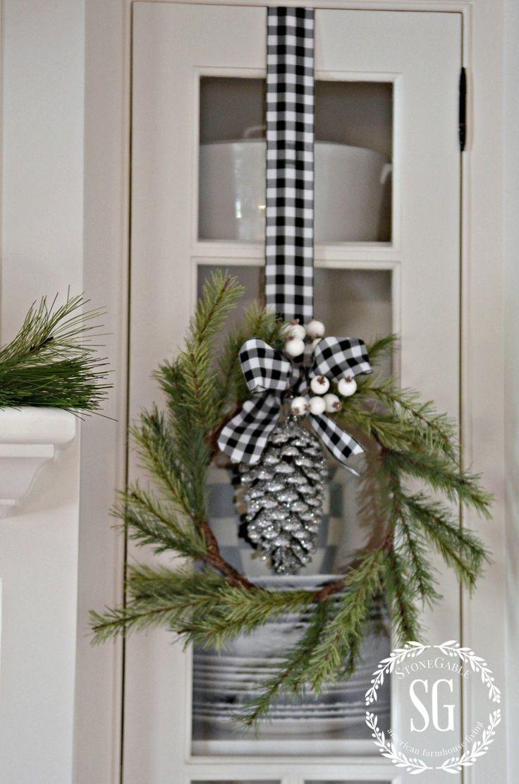 Coronas de navidad estilo campestre