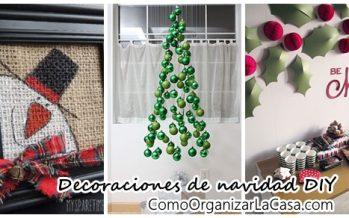 Decoraciones DIY para navidad 2016-2017