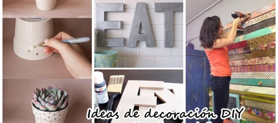 Ideas DIY que te ayudarán a decorar tu casa
