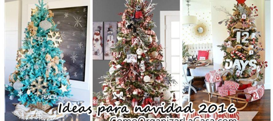 Ideas de decoraci n de arbol de navidad 2016 2017 for Decoracion de arboles de navidad 2016