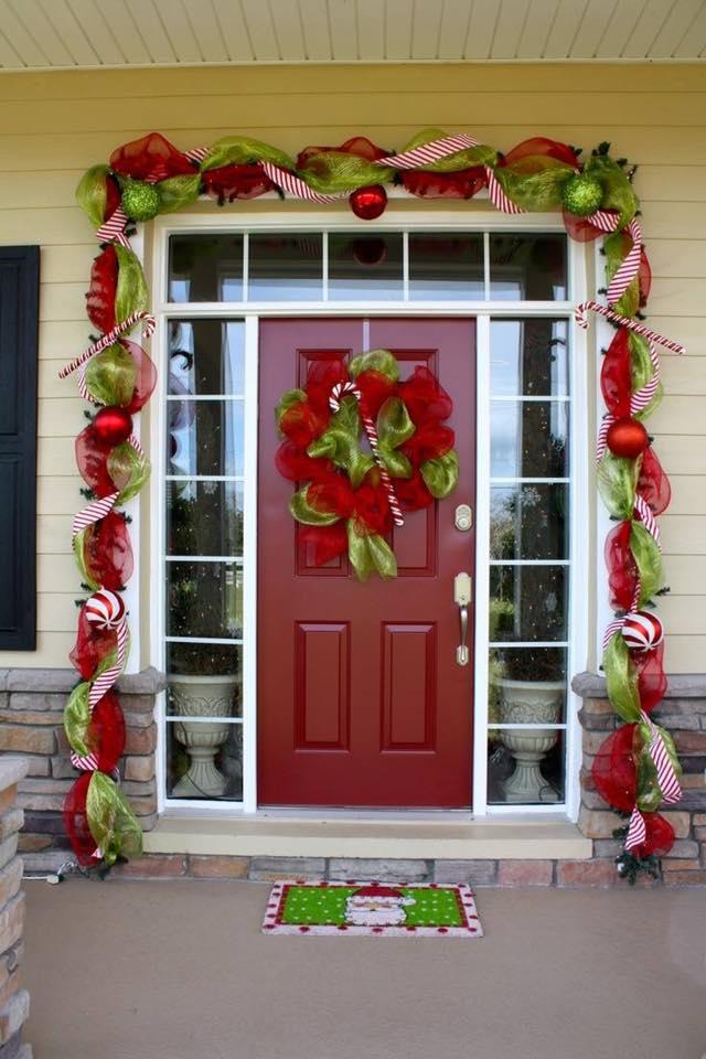 Ideas navidenas para puertas y chimeneas 14 decoracion - Ideas decorativas navidenas ...