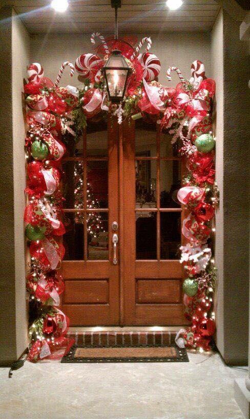 Ideas navidenas para puertas y chimeneas 18 decoracion - Chimeneas decoradas ...