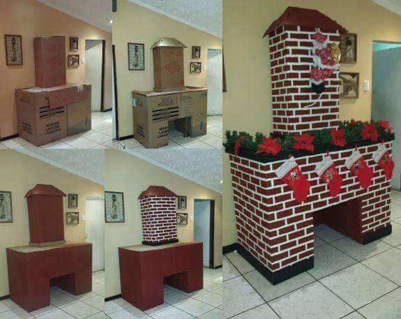 Ideas navidenas para puertas y chimeneas 25 decoracion - Chimeneas para casas ...