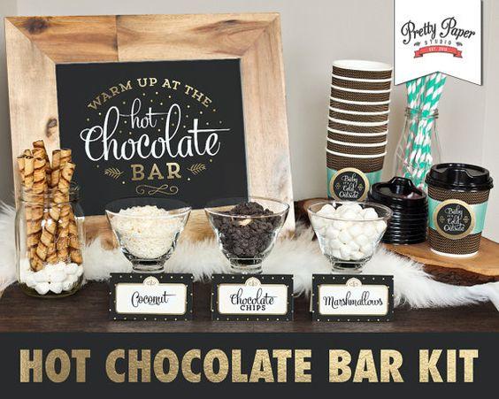 Ideas para bar de chocolate caliente