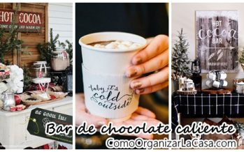 Ideas para bar de chocolate caliente – Hot cocoa bar