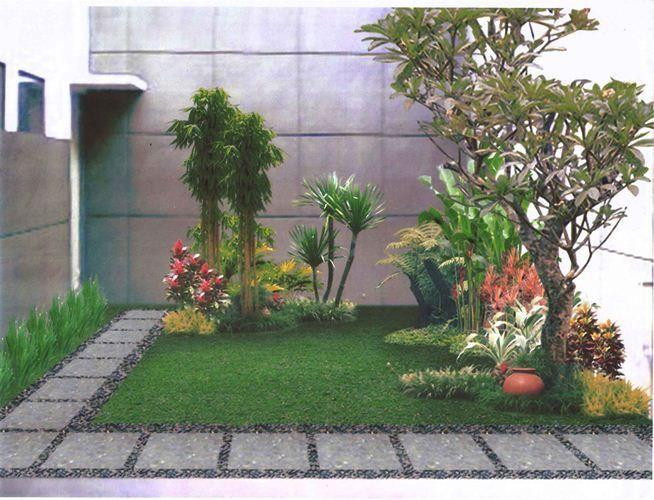 jardín esquinero pequeño