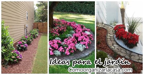 Jardines frontales con flores - Ideas para decorar mi jardin ...