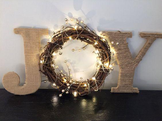 Letreros navideños con luces led