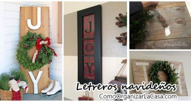 Letreros navideños DIY