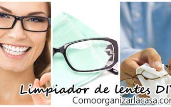 Receta casera para hacer limpiador de lentes
