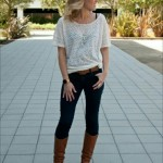 Looks con botas en color café