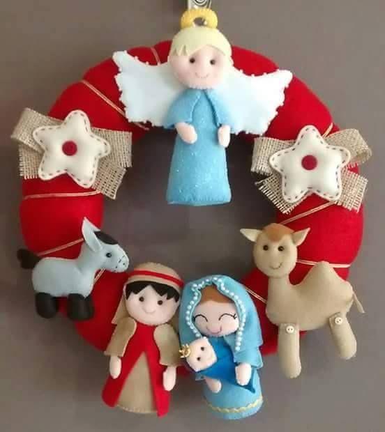 Moldes y manualidades de navidad en fieltro 18 decoracion de interiores fachadas para casas - Manualidades en fieltro para navidad ...