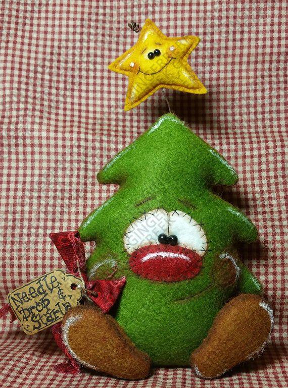 Moldes y manualidades de navidad en fieltro 36 - Figuras fieltro navidad ...