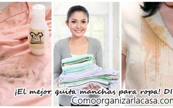 Removedor de manchas para ropa casero DIY