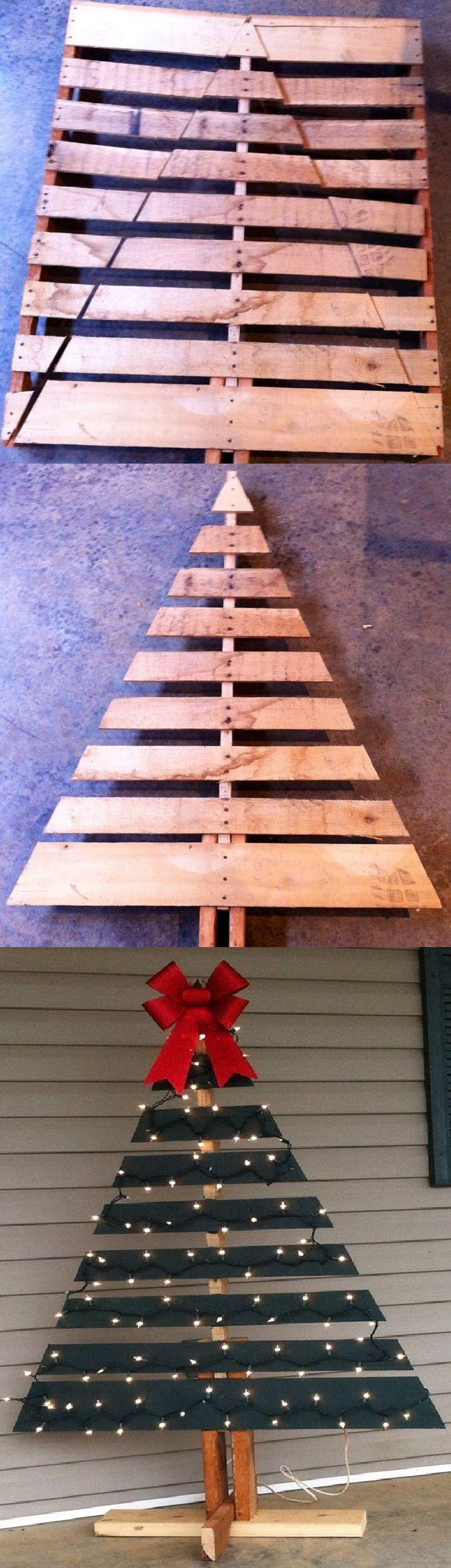 Arboles de navidad rústicos de madera