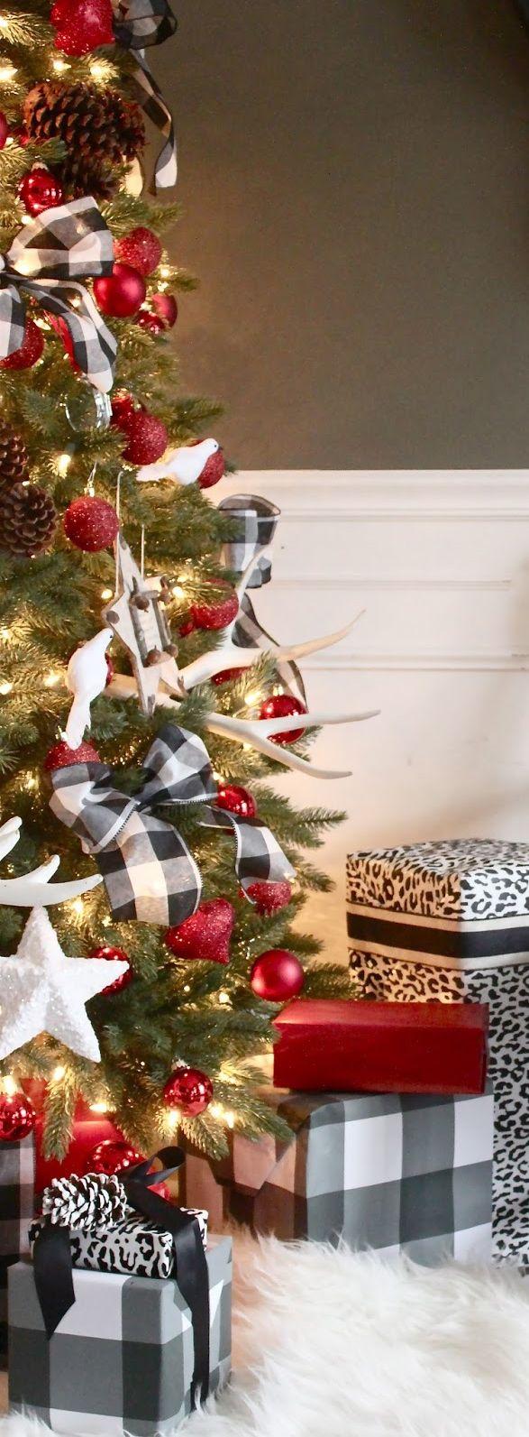 Tendencia en decoracion de navidad rustica pinos 22 - Decoracion de habitaciones en navidad ...