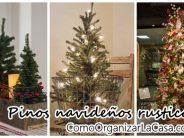 Tendencia en decoración de navidad rustica – pinos