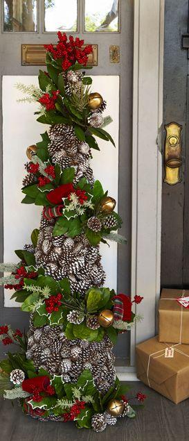 Tendencia en decoracion de navidad rustica pinos 4 - Decoracion de habitaciones en navidad ...