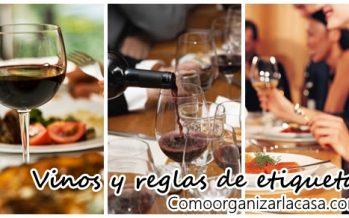 Todo lo que debes saber acerca de los vinos – reglas de etiqueta