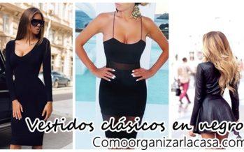 Vestidos clásicos color negro