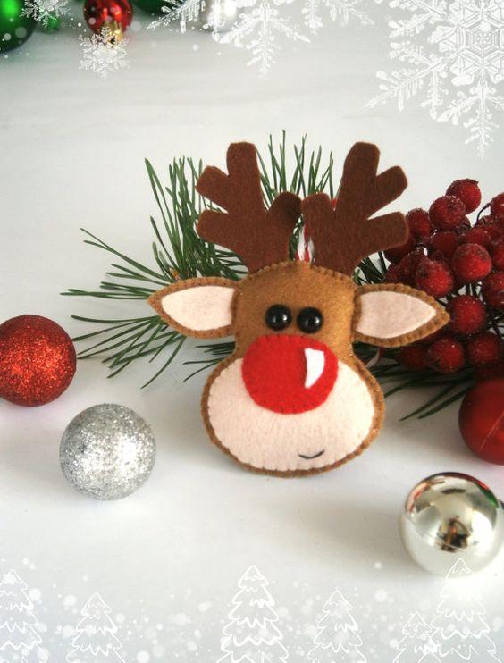 Adornos de navidad en fieltro 2018