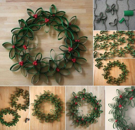 Adornos para navidad reciclados