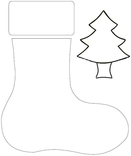 Botas navideñas moldes