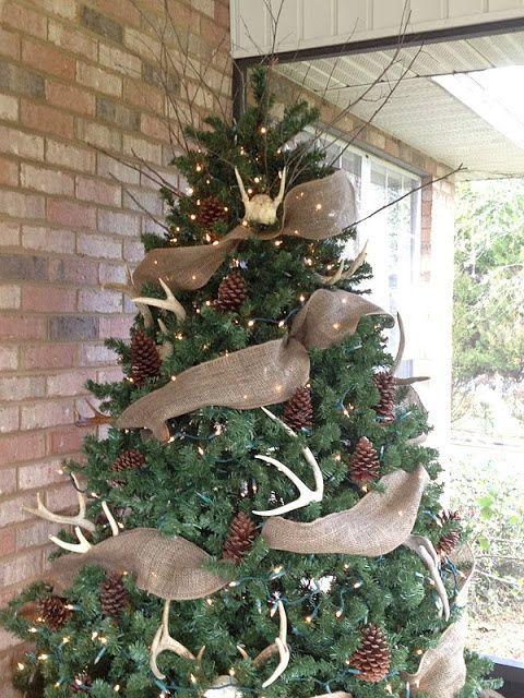 Decoracion arbol navidad rustico