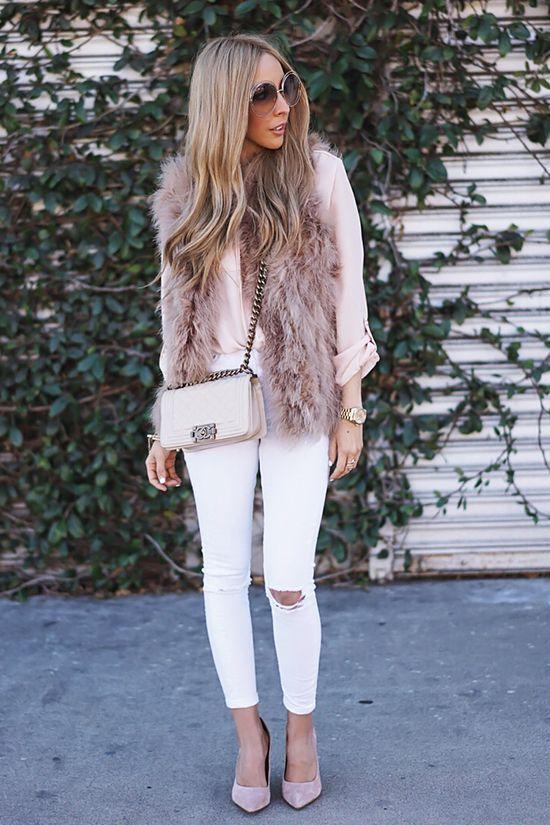 Outfits con chalecos de peluche ¡Increible opcion para invierno!