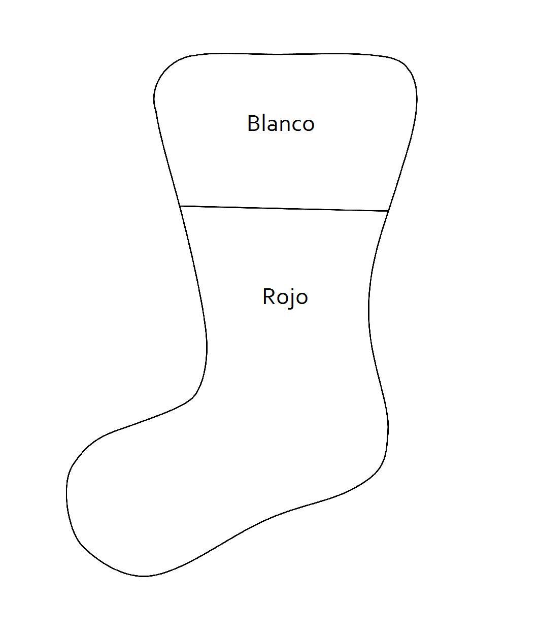 Moldes de botas navideñas para imprimir