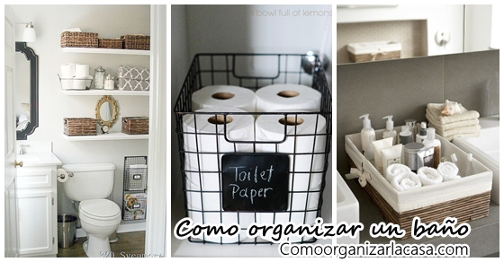 25 ideas para organizar un ba o decoracion de interiores for Como organizar el bano