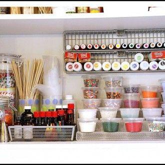 Como organizar utensilios de reposteria