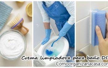 Crema limpiadora de moho y suciedad del baño DIY