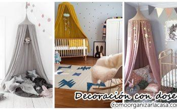 Decoración de habitaciones infantiles con dosel