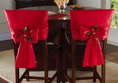 Decoración navideña 2019 para tus sillas del comedor