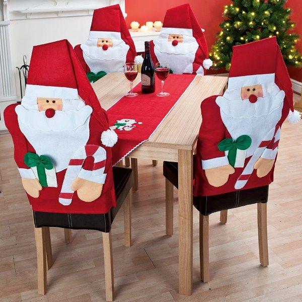 Decoracion navidena 2016 para tus sillas del comedor 33 for Sillas de comedor 2016